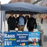 Informationsstand der Republikaner Fulda